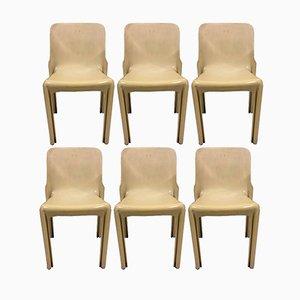 Selene Chairs von Vico Magistretti für Artemide, 1960er, 6er Set