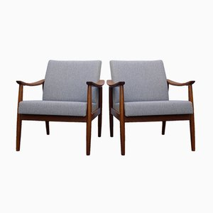Vintage Scandinavian Teak Armchairs, Set of 2