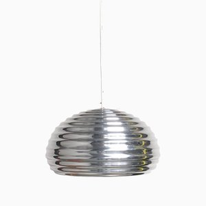 Lámpara colgante de aluminio moldeado, años 60