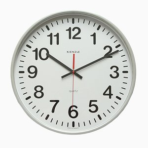 Large Industrial Wall Clock from Kienzle, 1970s