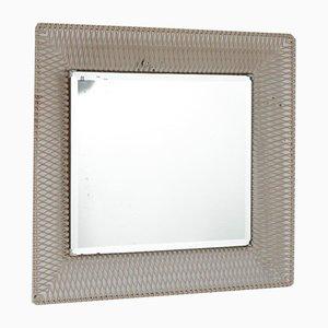 Spiegel mit Rahmen aus Lochblech, 1950er