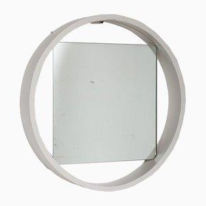 Spiegel mit weißem Holzrahmen, 1950er