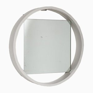 White Wooden Mirror, 1950s