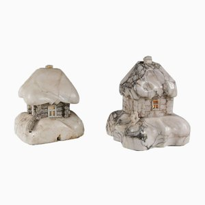 Marble House Table Lamps, 1930s