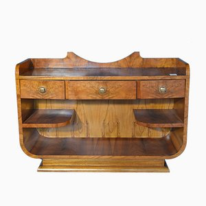 French Art Deco Walnut Sideboard, 1920