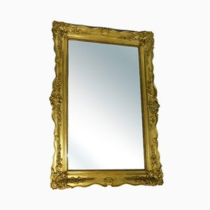 Large Antique Baroque Gold Plated Wall Mirror