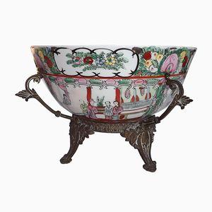 Antique Porcelain Punch Bowl