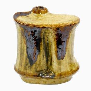 Glasierte Keramik Vase von Zsolnay, 1970er