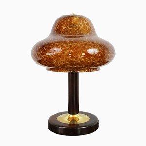 Lámpara de mesa hongo vintage de cristal de Murano