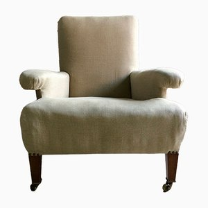 Antique Lounge Armchair from Howard & Sons, 1880s