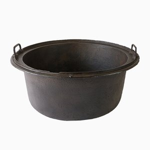 Large 19th-Century Cast Iron Cauldron
