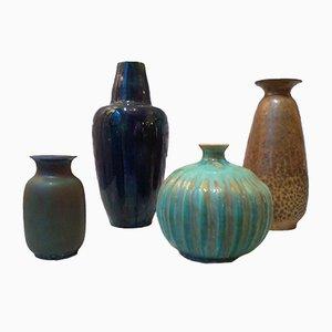 Juego de 4 cerámicas vintage de Peyro, años 50