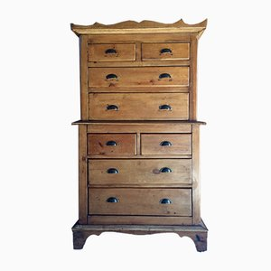Antique Tallboy Chest Of Drawers, 1890s