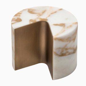 Fermacarte Balancing in ottone e marmo Calacatta di Studiocharlie per Salvatori