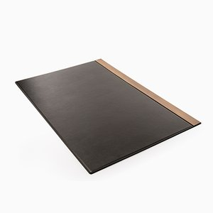 Balancing Desk Pad in Leather & Burnished Brass by Studiocharlie for Salvatori