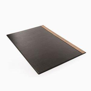 Balancing Desk Pad in Leather & Burnished Brass by Studiocharlie for Salvatori