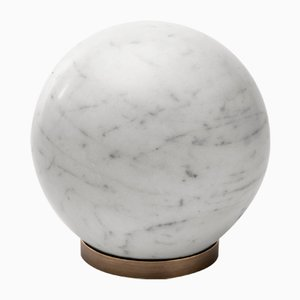 Gravity Sphere in Bianco Carrara Marble by Salvatori
