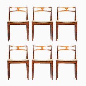 Chaises de Salle à Manger par Johannes Andersen pour Christian Linneberg Mobelfabrik, 1960s, Set de 6