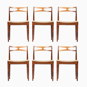 Dining Chairs by Johannes Andersen for Christian Linneberg Mobelfabrik, 1960s, Set of 6
