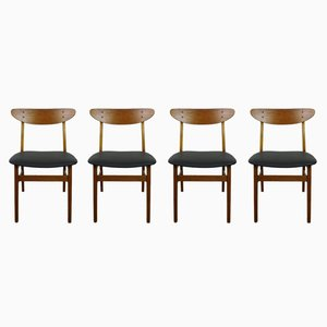 Model 210 Dining Chairs from Farstrup Møbler, 1960s, Set of 4