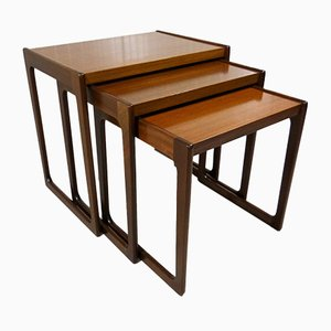 Walnut Nesting Tables from Opal, 1960s