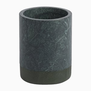 Portacandela Lui&Lei Paperweight in marmo Verde Alpi di Vincent Van Duysen per Salvatori