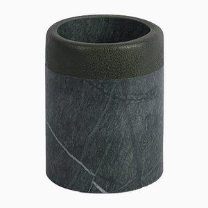 Portapenne Lui&Lei Paperweight in marmo Verde Alpi di Vincent Van Duysen per Salvatori
