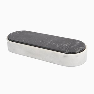 Contenitore Lui&Lei Paperweight in marmo bainco di Carrara di Vincent Van Duysen per Salvatori