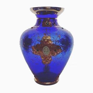 Vase Époque Louis XV Antique Peint à la Main