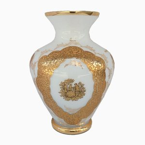 Jarrón era Louis XV antiguo pintado a mano
