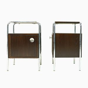 Bauhaus Nightstands by Robert Slezak, Set of 2