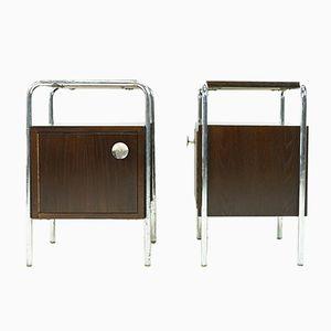 Comodini Bauhaus di Robert Slezak, set di 2
