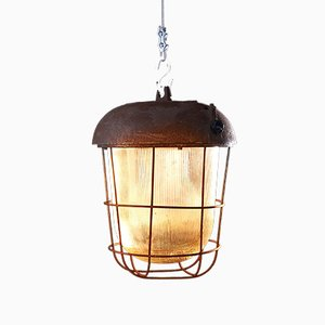Vintage OS-300 P Industrial Pendant Lamp from Polam Wilkasy
