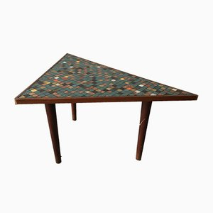 Vintage Wood & Mosaic Coffee Table