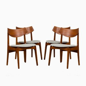 Danish Teak Chairs from Funder-Schmidt & Madsen, 1960s, Set of 4