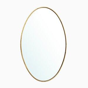 Italian Mirror with Brass Frame, 1950s