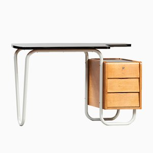 French Desk by Jacques Hitier for Tubauto, 1950s