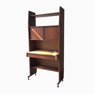 Mid-Century Bookcase with Pullout Desk, 1950s