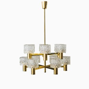 Austrian 12-Arm Chandelier from Kalmar, 1950s