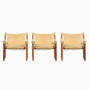 Sirocco Easy Chairs by Arne Norell for Aneby Mobler, 1960s, Set of 3