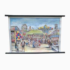 Poster educativo raffigurante un parco giochi di D. Lordey per MDI, 1967