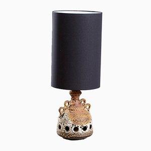Lámpara de mesa vintage con base de cerámica, años 70