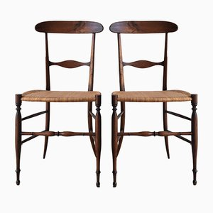 Mid-Century Campanino Dining Chairs by Giuseppe Gaetano Descalzi for Fratelli Levaggi, Set of 2