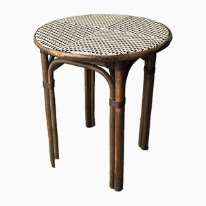 Mid-Century French Rattan & Bamboo Coffee Table
