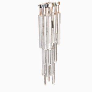 Lámpara de techo vintage de cristal de Murano, años 70