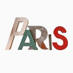 French Industrial PARIS Letter Set, 1950s