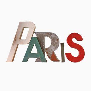 Set di lettere PARIS industriali, Francia, anni '50