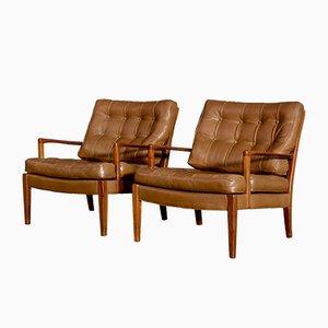 Modell Löven Sessel von Arne Norell für Arne Norell AB, 1960er, 2er Set