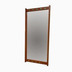 Mid-Century Swedish Teak Mirror from Fröseke Nybrofabriken