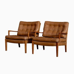 Model Löven Easy Chairs by Arne Norell for Arne Norell AB, 1960s, Set of 2